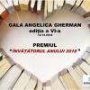A fost lansată Gala Angelica Gherman, competiție în cadrul căreia se va decerna Premiul Învățătorul Anului 2018