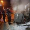 Incendiu izbucnit la un container de gunoi de pe Aleea Vișinului din Dorohoi - FOTO