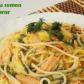 Spaghete cu somon și sos de mărar