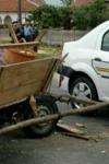 Accident la Broscăuți: o depășire periculoasă a băgat un om în spital