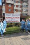 Prima zi de vaccinare pe pietonalul din Dorohoi încheiată cu succes - FOTO