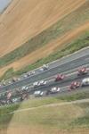 Carambol pe Autostrada Soarelui: 55 de mașini au fost implicate. A fost activat planul roșu - FOTO