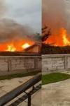 Incendiu la Leorda! Mamă și fiică salvate dintr-o casă în flăcări - FOTO