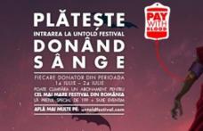 Primul festival la care biletul se plătește donând sânge - UNTOLD