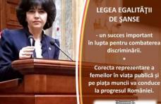 """Senatorul PSD Doina Federovici: """"Noi reglementari privind egalitatea de șanse și de tratament între femei și bărbați"""""""