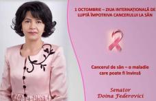 Senator Doina Federovici: Cancerul la sân, o maladie care poate fi învinsă