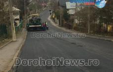 Încă un obiectiv important a fost atins de Primăria Dorohoi: Asfaltarea străzii Sălciilor aproape de finalizare - FOTO