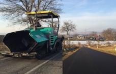 Noi asfaltări pe drumul naţional Botoşani – Dorohoi - FOTO
