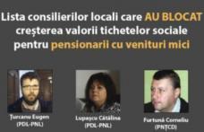 CL a respins dublarea tichetelor sociale pentru pensionari