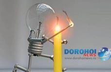 Primăria Municipiului Dorohoi informează cetăţenii! Furnizarea energiei electrice va fi întreruptă