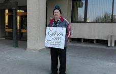 Prefectul a solicitat sprijin medical pentru protestatarul care face greva foamei