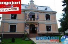 Noi locuri de muncă scoase la concurs de Primăria municipiului Dorohoi. Vezi detalii!
