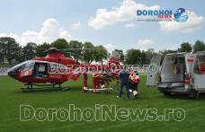 Bărbat aflat în stare gravă preluat de urgență de la Dorohoi de un elicopter SMURD - FOTO