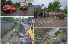 Gospodării și beciuri inundate după o ploaie torențială la Dorohoi: Intervenție în forță a pompierilor - FOTO