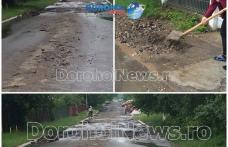Două gospodării din Dorohoi inundate după o nouă ploaie torențială! Pompierii au intervenit pentru degajarea apei - FOTO