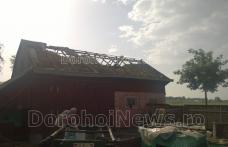 O tornadă a distrus acoperișurile caselor dintr-o localitate din județul Botoșani - FOTO