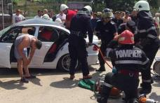 Impact devastator! BMW transformat într-un morman de fiare după ce șoferul a pierdut controlul volanului - FOTO
