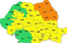 Cod portocaliu de vijelii în Moldova, inclusiv Botoșani, până miercuri dimineață