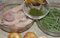 Ostropel de pui cu fasole verde