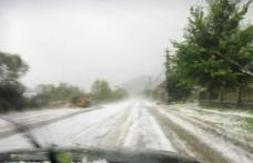 Localități acoperite de gheață. Peisaj de iarnă în mijlocul verii, în județul Botoșani! VIDEO