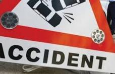 Accident grav de circulație! A lovit trei mașini și a plecat de la locul accidentului!