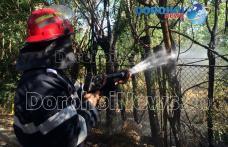 Incendiu izbucnit pe Aleea Victoriei din Dorohoi. Joaca unor copii a pus autoritățile în alertă - FOTO