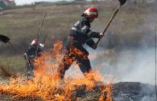Pompierii au intervenit la șase incendii de vegetaţie uscată în mai puţin de opt ore