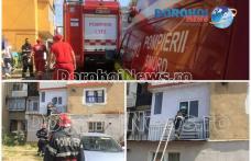 Intervenție a pompierilor! Femeie baricadată cu propriul copil într-un apartament din Dorohoi - FOTO