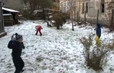 Iarnă în toată regula pe Valea Prahovei, la început de noiembrie - VIDEO
