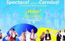 Ansamblul Hora din Vlăsinești reprezintă folclorul autentic românesc de Ziua Națională a României la Cernăuți