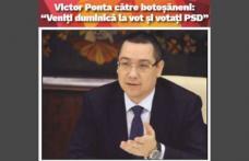 """Victor Ponta către botoșăneni: """"Veniți duminică la vot și votați echipa PSD"""""""
