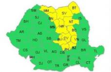 Județul Botoșani sub atenționare de cod galben de ploi, vânt si grindiă