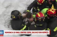 Românca dată disparută după avalanșa din Italia și fiul ei, găsiți în viață. Vezi VIDEO cu operațiunea de salvare!