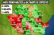 Rezultate Bacalaureat 2011: Harta promovabilității pe județe