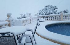 Fenomen meteo bizar: în prag de primăvară, a nins în Spania