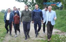 """Răzvan Burleanu, șeful FRF, a fost în vizită la Baza Sportivă """"1 Mai"""" Dorohoi - FOTO"""