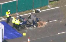 Cinci români au murit în urma unui grav accident rutier produs pe o autostradă din Marea Britanie - VIDEO