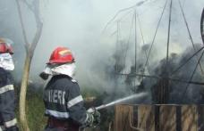 Adăpost de animale incendiat de trăsnet la Smârdan