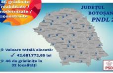 41 de milioane de euro pentru reabilitarea și construirea de unități de învățământ în județul Botoșani – 144 de obiective