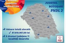 """PSD Botoșani """"72 milioane euro pentru modernizarea drumurilor județene și locale și construcția de poduri și podețe în 56 de localități din județ"""""""
