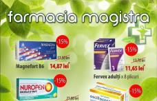 Farmaciile Magistra: Campanie de reduceri și oferte la mai multe produse. Vezi detalii!
