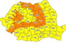 Comunicat Cancelaria Prefectului: ATENȚIE! Urmează două zile de ploaie, frig și vânt puternic