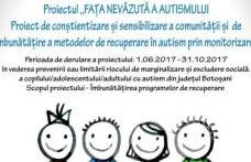 """""""Fața nevăzută a autismului"""", un proiect pentru 46 de copii cu autism din Botoșani"""