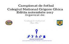 Campionat de fotbal la Colegiul Național Grigore Ghica - FOTO