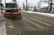 Prima zăpadă din această iarnă la Dorohoi: Autoritățile intervin pentru păstrarea unui trafic fluent - FOTO