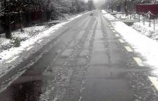 Polițiștii avertizează! Echipați-vă corespunzător autoturismul când circulați pe drumuri acoperite cu zăpadă sau polei