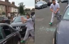 Scene şocante în Marea Britanie. Trei români au vandalizat maşina unui vecin care ar fi parcat pe locul lor