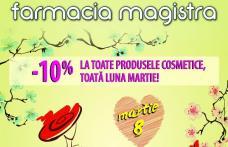 Farmacia Magistra: Ziua femeii și venirea primăverii sărbătorită cu reduceri la toate produsele cosmetice