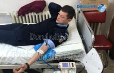 Donând sânge salvăm vieți! Campanie de donare a jandarmilor și cadrelor medicale de la Dorohoi - FOTO