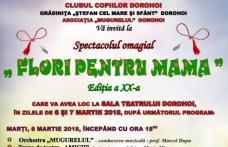 """Clubul Copiilor Dorohoi: Concert omagial """"Flori pentru mama"""", ediția a XX-a. Vezi programul!"""